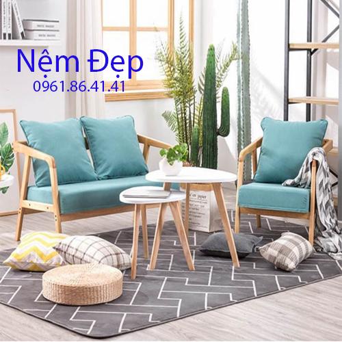 may nệm lót ghế sofa gỗ