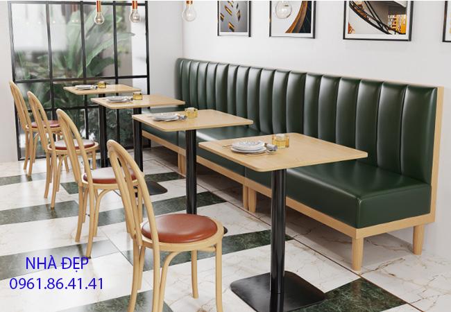 May Nệm Ghế Gỗ cafe tra sữa quán ăn