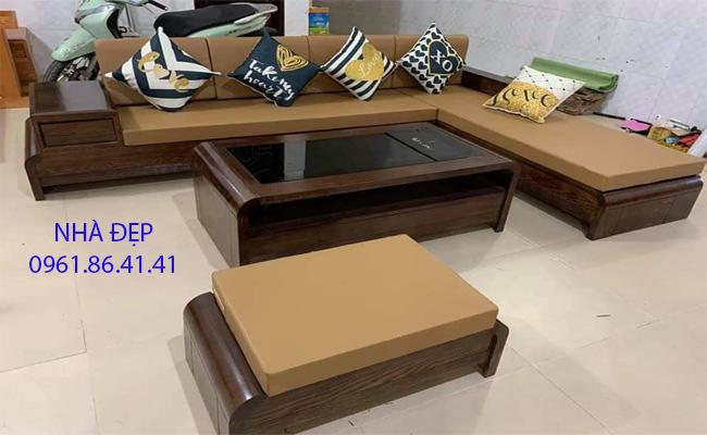 Nệm lót ghế gỗ góc chữ L