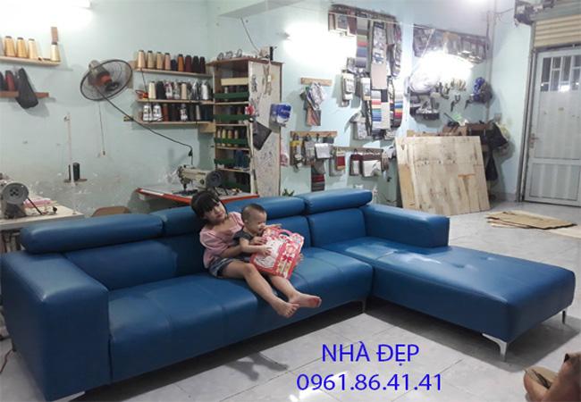 Bọc ghế sofa giả da rossano quận 10