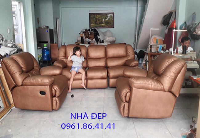 Bọc Ghế sofa da bò rossano quận 7
