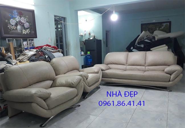 Bọc lại ghế sofa giả da rossano quận 6