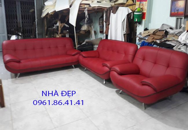 Bọc ghế sofa da bò rossano quận 6