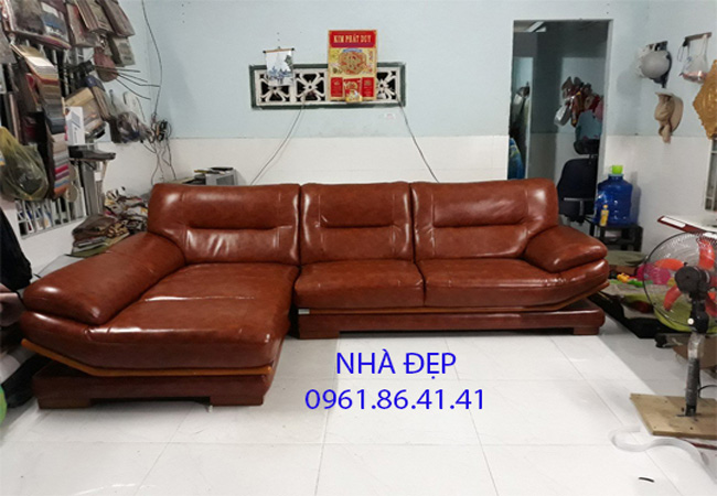 Bọc Ghế sofa da bò rossano quận 10